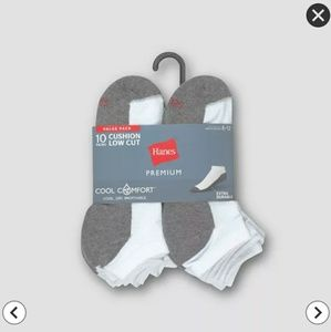 Hanes Premium Men's 10pk Cool Comfort Low Cut Sock